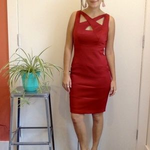 Gorgeous Silky Red Cocktail Dress